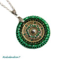 delikatny,subtelny,efektowny,zielony - Wisiory - Biżuteria