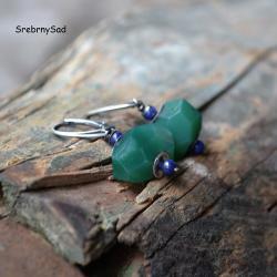 kolczyki retro,butelkowa zieleń - Kolczyki - Biżuteria