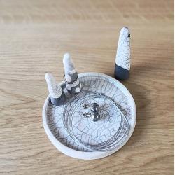 stojak na biżuterię,stożek na pierścionki, - Ceramika i szkło - Wyposażenie wnętrz