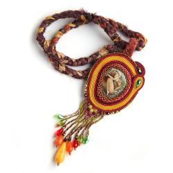 Jesienny naszyjnik z elfem - Naszyjniki - Biżuteria