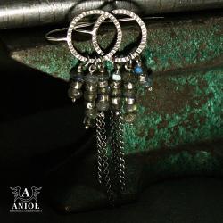 kolczyki damskie,labradoryty - Kolczyki - Biżuteria