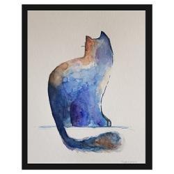 kot,akwarela - Obrazy - Wyposażenie wnętrz