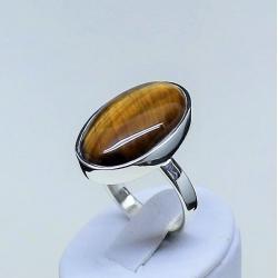 pierścionek z tygysim okiem,kwarc,pierścionki,sreb - Pierścionki - Biżuteria
