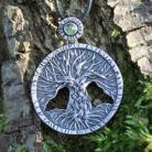 Wisiory drzewo,drzewo życia,zielony,oliwin,peridot