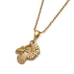złocony wisiorek,smok wisior,delikatny wisiorek - Wisiory - Biżuteria