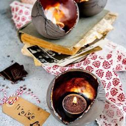 ceramika,lampion,świecznik,tealight, - Świeczniki - Wyposażenie wnętrz