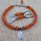 Komplety komplet biżuterii karneol,pomarańczowy,kolczyki