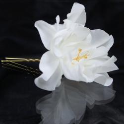 Swarovski,kryształ,jedwab,kwiat,ozdoba,ślub - Do włosów - Biżuteria
