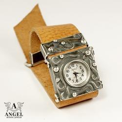 zegarek ze srebra,damski zegarek,bransoleta - Inne - Biżuteria