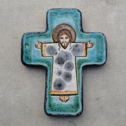 Beata Kmieć,ikona ceramiczna,krzyż,Jezus - Ceramika i szkło - Wyposażenie wnętrz
