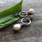Kolczyki perły,srebrne,delikatne,białe