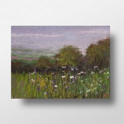 pastele,łąka,kwiaty - Obrazy - Wyposażenie wnętrz