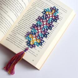 frywolitka,koronka,zakładka - Zakładki do książek - Akcesoria