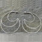 Kolczyki srebrne kolczyki,minimalistyczne,duże,księżyc