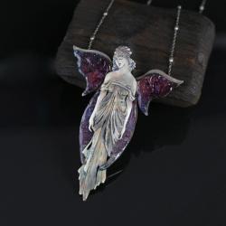 wisior wróżka,elficki naszyjnik ze srebra - Naszyjniki - Biżuteria