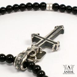 bransoleta męska,naszynik z krzyżem - Naszyjniki - Biżuteria