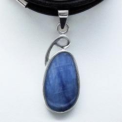 wisior z kyanitem,srebro,biżuteria,wisiorki,kyanit - Wisiory - Biżuteria