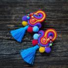 Kolczyki etniczne kolczyki,kolorowe kolczyki