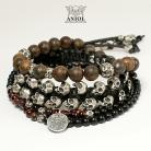 Bransoletki biżuteria męska,bransolety z czaszkami