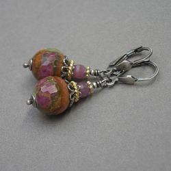 kamienie,minerały,jesień - Kolczyki - Biżuteria
