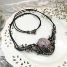 Naszyjniki naszyjnik,miedź,jaspis,wire-wrapping,na prezent