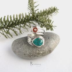 obrączka,kolorowy pierścionek - Pierścionki - Biżuteria