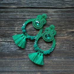 duże kolczyki,zielone kolczyki - Kolczyki - Biżuteria