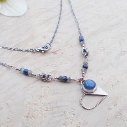 srebro,serce,Walentynki,szafiry,JewelsbyKT - Naszyjniki - Biżuteria