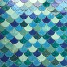 Ceramika i szkło kafle,rybie łuski,łuska