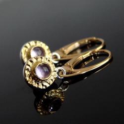 ametyst,circa,kolczyki,srebro,srebro złocone, - Kolczyki - Biżuteria