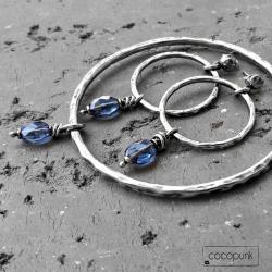 nowoczesny,srebrny,prezent,oksydowany - Komplety - Biżuteria