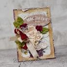 Kartki okolicznościowe kartka,urodziny,imieniny,vintage,kwiaty