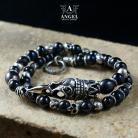 Bransoletki bransoleta z pereł,biżuteria z czaszkami