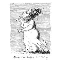 ilustracja,tusz,dama,obrazek,wydruk,kawa - Ilustracje, rysunki, fotografia - Wyposażenie wnętrz
