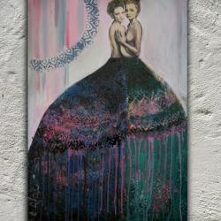 akt,miłość,abstrakcja,kobiety,bliskość - Obrazy - Wyposażenie wnętrz