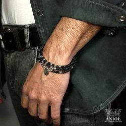 bransoleta z koralików,biżuteria męska - Dla mężczyzn - Biżuteria