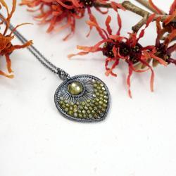 srebrny wisior z cyrkoniami,prezent dla niej - Wisiory - Biżuteria