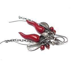 natura,papryczki,wiszące,eleganckie - Kolczyki - Biżuteria