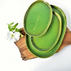 ceramika hand made,patera,talerz,liść, - Ceramika i szkło - Wyposażenie wnętrz