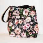 Na ramię torba w kwiaty,wzorzysta torba,worek,torba xl,