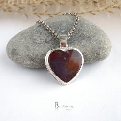 serce,love,agat - Wisiory - Biżuteria