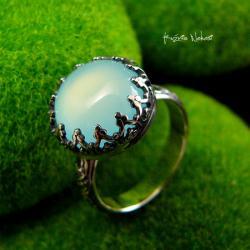 nehesi,pierścionek,srebrny,pierscionek,agatem,elfy - Pierścionki - Biżuteria