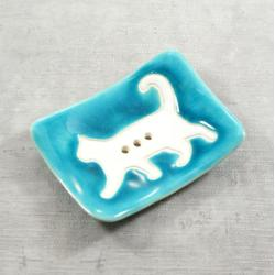 mydelniczka,łazienka,kot,zwierzęta - Ceramika i szkło - Wyposażenie wnętrz