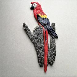 Beata Kmieć,ptak ceramiczny,Ara,papuga,dekor - Ceramika i szkło - Wyposażenie wnętrz