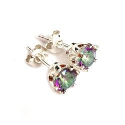 topazy,srebrne,blask,delikatne,retro,róż - Kolczyki - Biżuteria