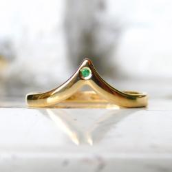 pierścionek ze szmaragdem - Pierścionki - Biżuteria