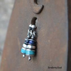 wkrętki turkusowe,srebro i turkus - Kolczyki - Biżuteria