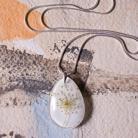 Naszyjniki naszyjnik z żywicy,biżuteria z żywicy,srebro