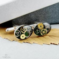 spinki steampunk - Dla mężczyzn - Biżuteria