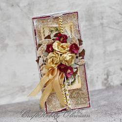 ślub,kartka,kwiaty,wieniec,vintage - Kartki okolicznościowe - Akcesoria